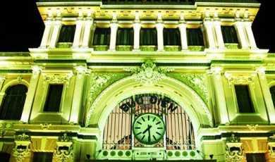 Chiếu sáng kiến trúc bưu điện thành phố Hồ Chí Minh